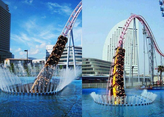 Vanish roller coaster at Cosmo Land in Japan