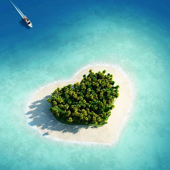 heart shape island