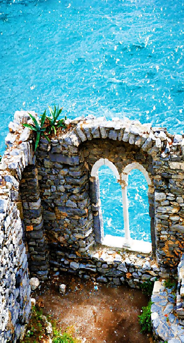 Ruins of Doria Castle in Portovenere, Italy