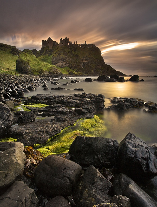 The ruins of Dunluce Castle.