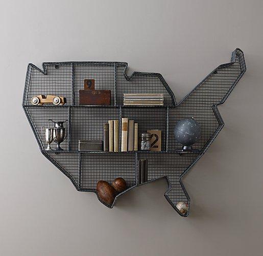 map shelf